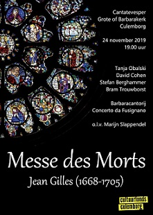 Flyer Messe des Morts jean Gilles